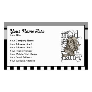Alice In Wonderland Mad Hatter Grunge Business Card Template