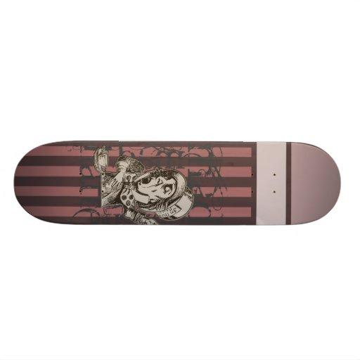 Alice In Wonderland Mad Hatter Grunge (Pink) Custom Skate Board