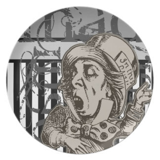 Alice In Wonderland Mad Hatter Grunge Plate