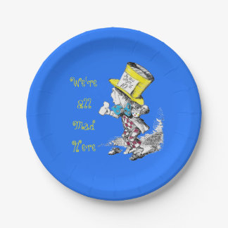 Alice in Wonderland Mad Hatter Paper Plate 7 Inch Paper Plate