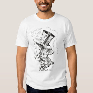 Alice In Wonderland: Mad Hatter Sketch T-shirts
