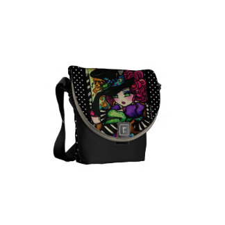 Alice in Wonderland Mad Hatter Tea Party Art Courier Bag