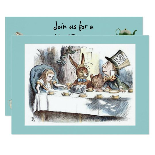Alice in Wonderland, Mad Hatter, Tea Party Card
