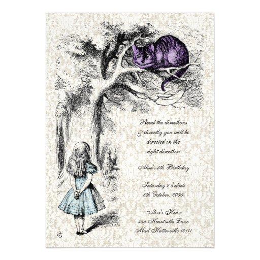 Alice in Wonderland Mad Hatters Tea Party Birthday Invites