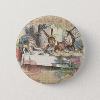 Alice in Wonderland Mad Tea Party 6 Cm Round Badge