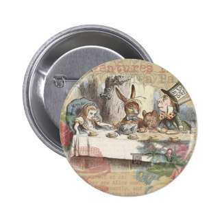 Alice in Wonderland Mad Tea Party 6 Cm Round Badge
