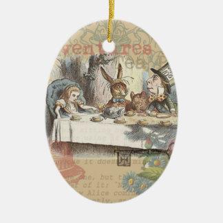 Alice in Wonderland Mad Tea Party Ceramic Oval Decoration