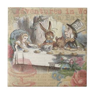 Alice in Wonderland Mad Tea Party Tile