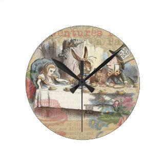 Alice in Wonderland Mad Tea Party Wall Clock