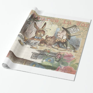 Alice in Wonderland Mad Tea Party Wrapping Paper