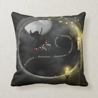 Alice in Wonderland Magical Gothic Candles Throw Pillow