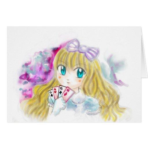 Alice In Wonderland Manga Anime Version Kawaii Cards