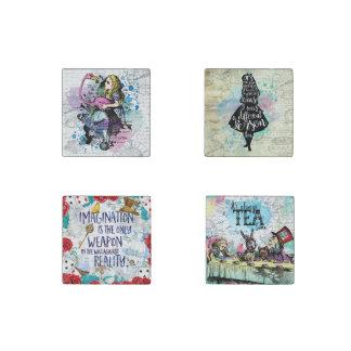 Alice in Wonderland marble magnet set Stone Magnet