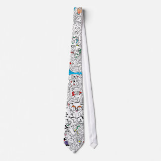 Alice in Wonderland Maze Tie - Customized