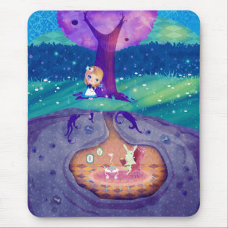 Alice in Wonderland Moonlight Mouse Pad