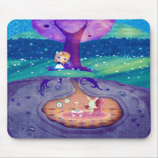 Alice in Wonderland Moonlight Mouse Pads