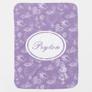 Alice in Wonderland Name Tea Time Lavender Blanket