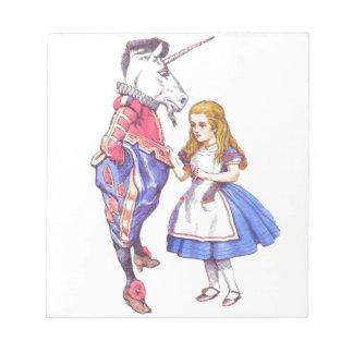 Alice in Wonderland notepad