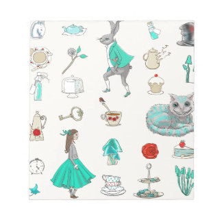 Alice in wonderland notepads