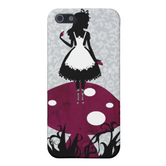 Alice in Wonderland on Mushroom iPhone4 cover iPhone 5/5S Case