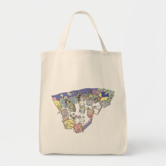 Alice In Wonderland Organic Grocery Bag