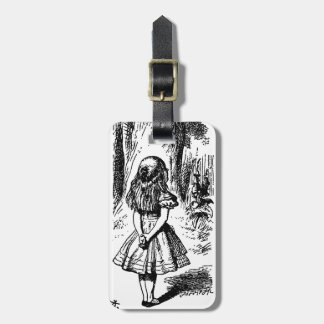 Alice in Wonderland - original illustration Luggage Tag