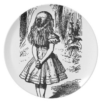 Alice in Wonderland - original illustration Party Plates