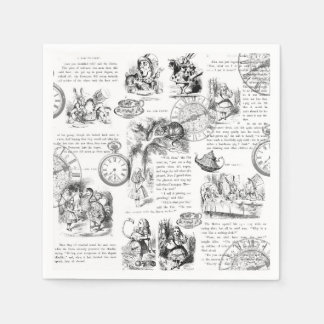 Alice in Wonderland paper napkins