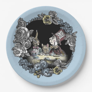 Alice in Wonderland Paper Plate-Mad Hatter 9 Inch Paper Plate