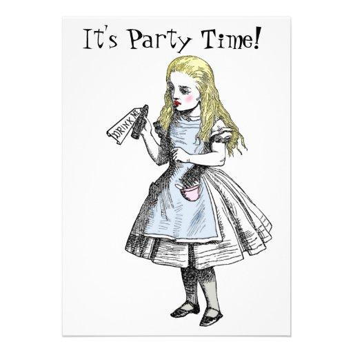 Alice in Wonderland Party Invitation Card