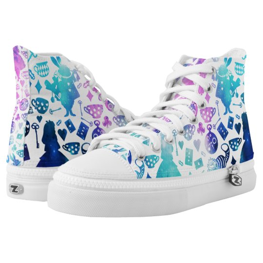 Alice in Wonderland pattern shoes