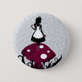 Alice in Wonderland Pin Button