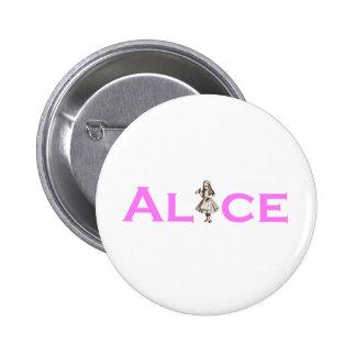 Alice In Wonderland Pink 6 Cm Round Badge