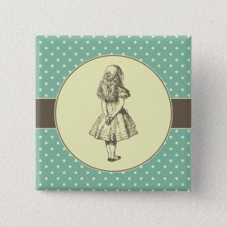 Alice in Wonderland Polka Dots 15 Cm Square Badge