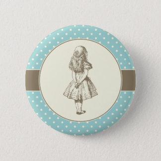 Alice in Wonderland Polka Dots 6 Cm Round Badge