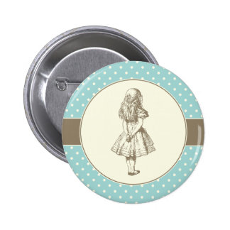 Alice in Wonderland Polka Dots 6 Cm Round Badge
