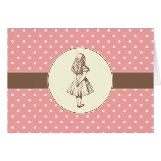 Alice in Wonderland Polka Dots Card