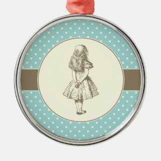 Alice in Wonderland Polka Dots Christmas Ornament