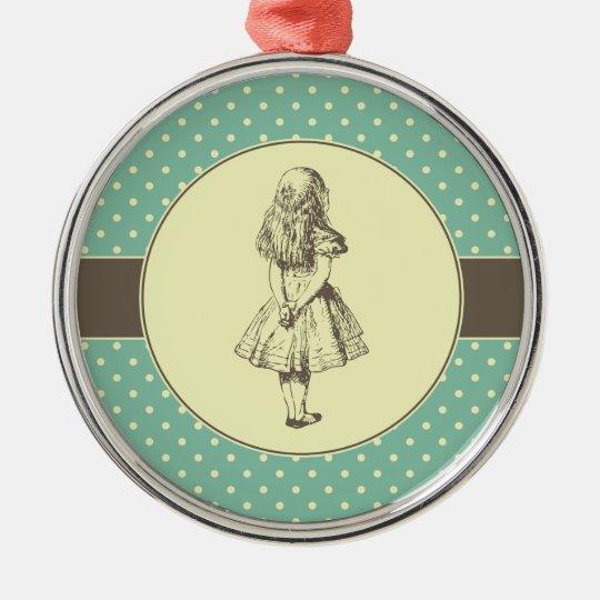 Alice in Wonderland Polka Dots Christmas Ornament