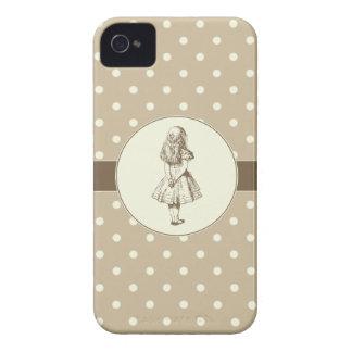 Alice in Wonderland Polka Dots iPhone 4 Case-Mate Case