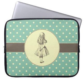 Alice in Wonderland Polka Dots Laptop Computer Sleeve
