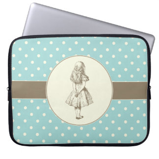 Alice in Wonderland Polka Dots Laptop Computer Sleeves
