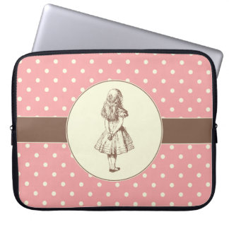 Alice in Wonderland Polka Dots Laptop Sleeve