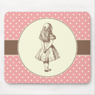 Alice in Wonderland Polka Dots Mouse Mat