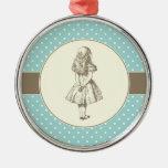 Alice in Wonderland Polka Dots Ornaments