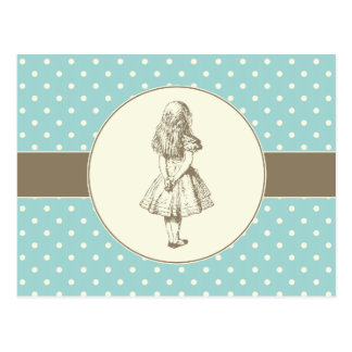 Alice in Wonderland Polka Dots Postcards