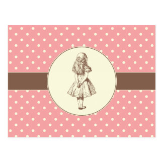 Alice in Wonderland Polka Dots Postcard