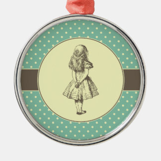 Alice in Wonderland Polka Dots Silver-Colored Round Decoration