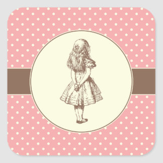 Alice in Wonderland Polka Dots Stickers