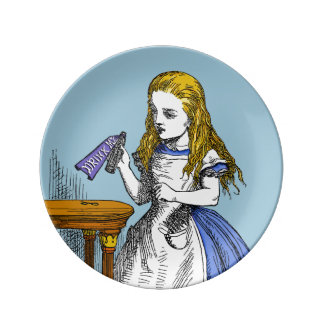 Alice in Wonderland Porcelain Plate